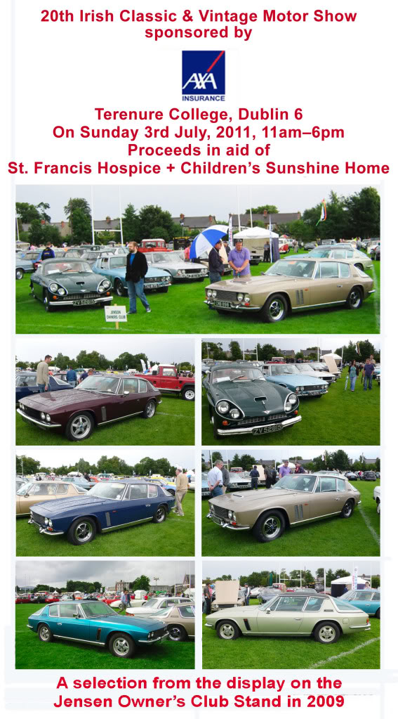 The Jensen Owners Club View Topic Irish Vintage Classic Car Show